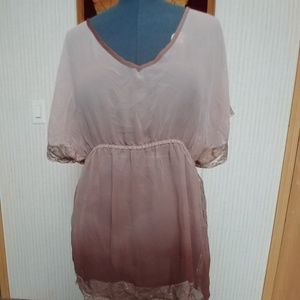 Charlotte Russe Size XL Lace Brown Cute Ombre
